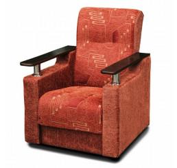Кресло Аркадий хром шинилл штрих
